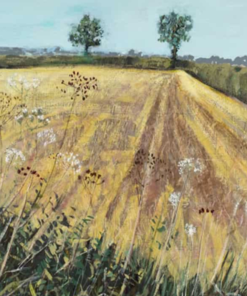 Original summer cornfield painting