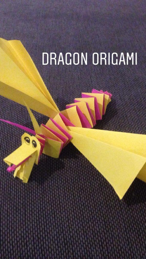 an origami dragon