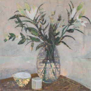 Gail's Lilies – oil painting