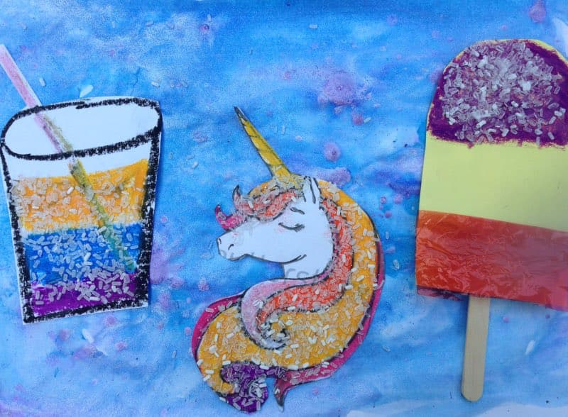 Art Class - Summer epsom salts crafts