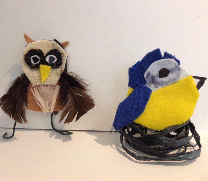 two felt birds STEM project