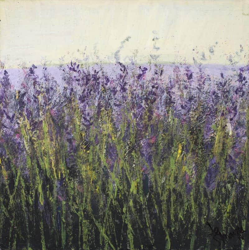 painting of Carshalton lavender