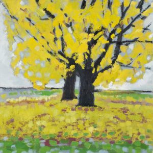Yellow Autumn Tree Print