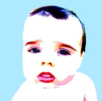 baby face andy warhol style