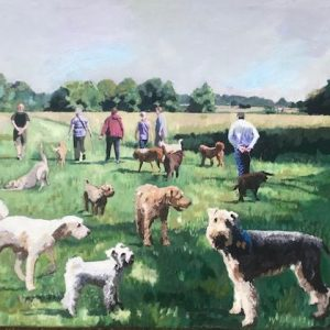 The dogs of Oaks Park, Carshalton Limited Edition Print