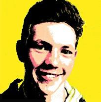 teenage boy andy warhol style painting
