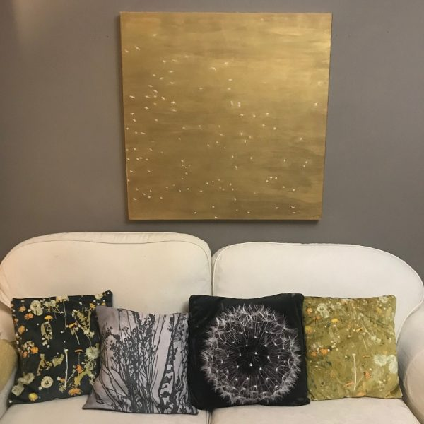 contemporary gold sky painting in situ