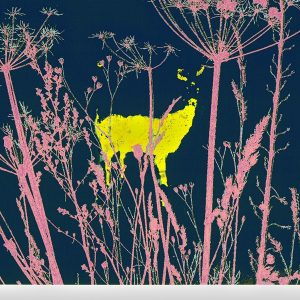 The deer the woods (yellow)