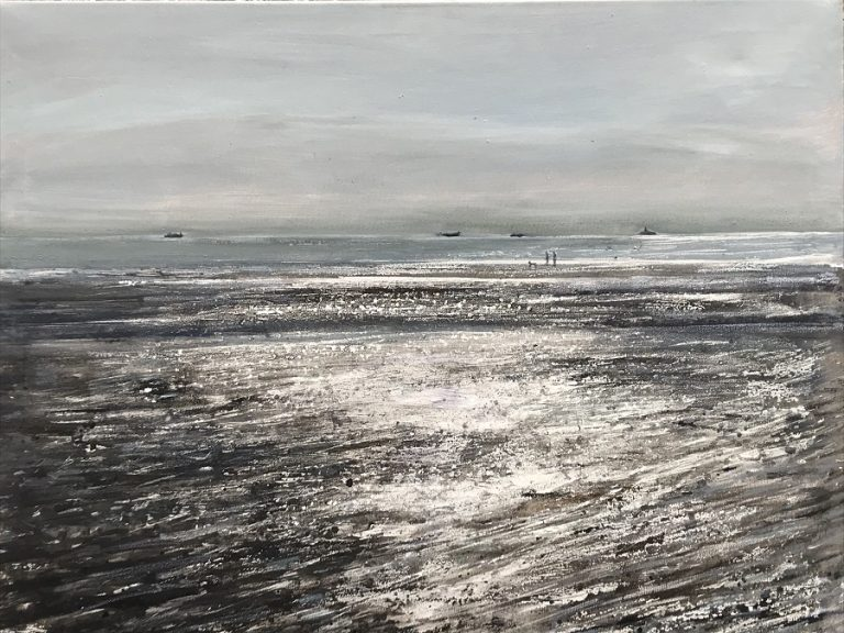 Shimmering light on beach Limited edition print