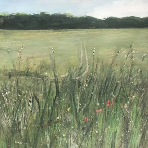 Surrey landscape meadow painting of Nonsuch Park 40x50cm
