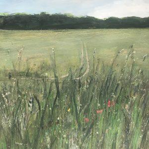 Surrey landscape meadow painting of Nonsuch Park 40x50cm – Original
