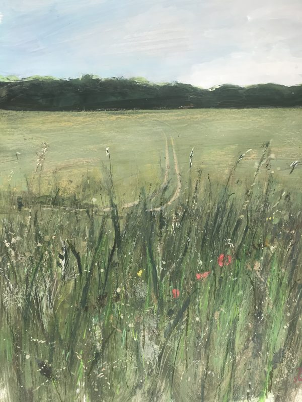 Surrey landscape meadow painting of Nonsuch Park