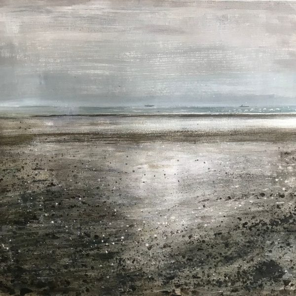 Seascape painting of Priory Bay Beach
