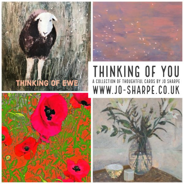Thinking of you cards set of 4 designed by Jo Sharpe