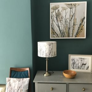 handmade bespoke botanical lampshade of some seedheads
