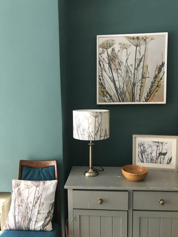handmade bespoke botanical lampshade