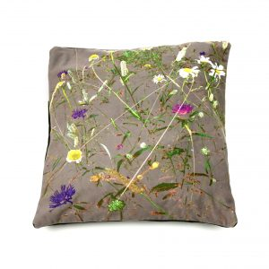 Contemporary chintz floral cushion