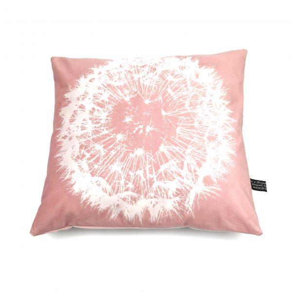 Bespoke Pink Dandelion cushion