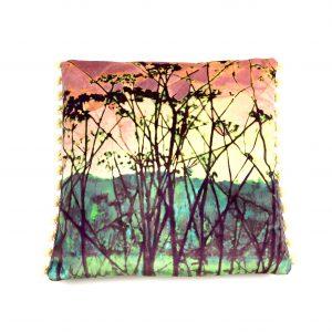 A limited edition botanical cushion (vintage terracotta)