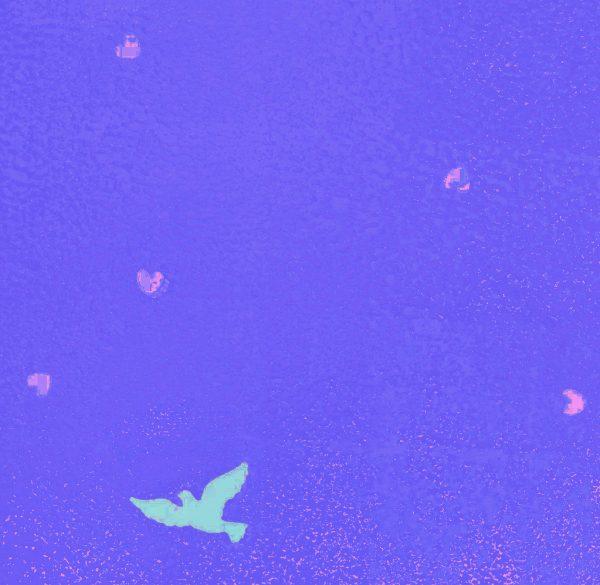 Follow your heart Art Print blue