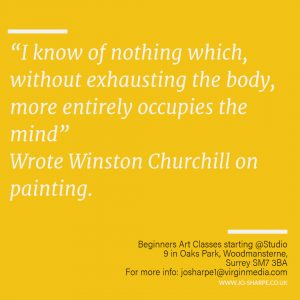 Churchill's passion for painting : A creative Escape