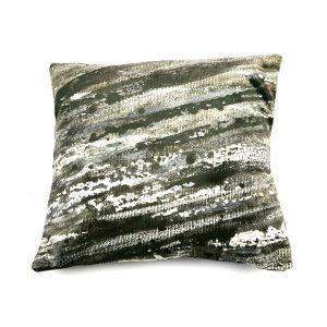 Sea Foam Cushion (black velvet)