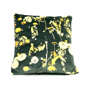 Dandelion Velvet Cushion (emerald)
