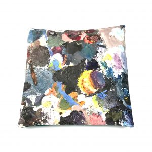 Contemporary Paint Palette Cushion 40x40cm handmade in velvet