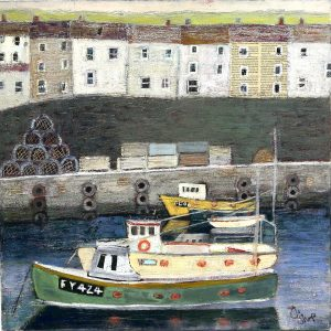 Cornish Harbour with Fishing Boats