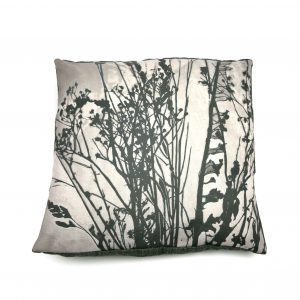 Seedheads Cushion (silver)