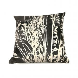 Seedheads Cushion (black and white)