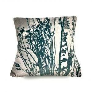 Seedheads Botanical Cushion (teal)