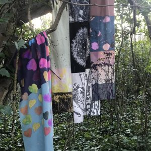 Jo Sharpe's botanical scarves