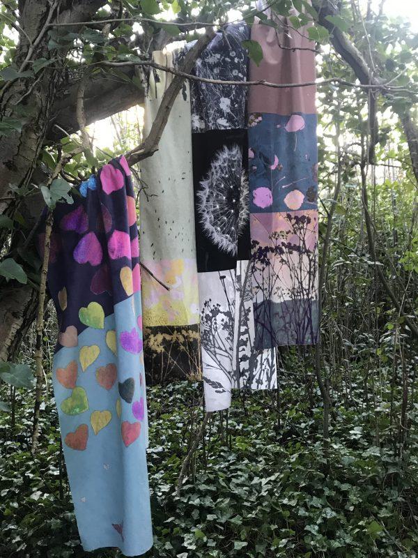 Jo Sharpe's botanical scarves